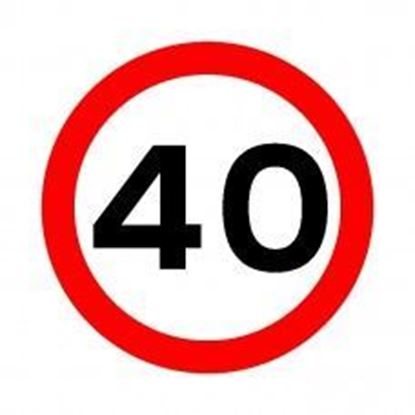40 MPH Speed Limit Sign